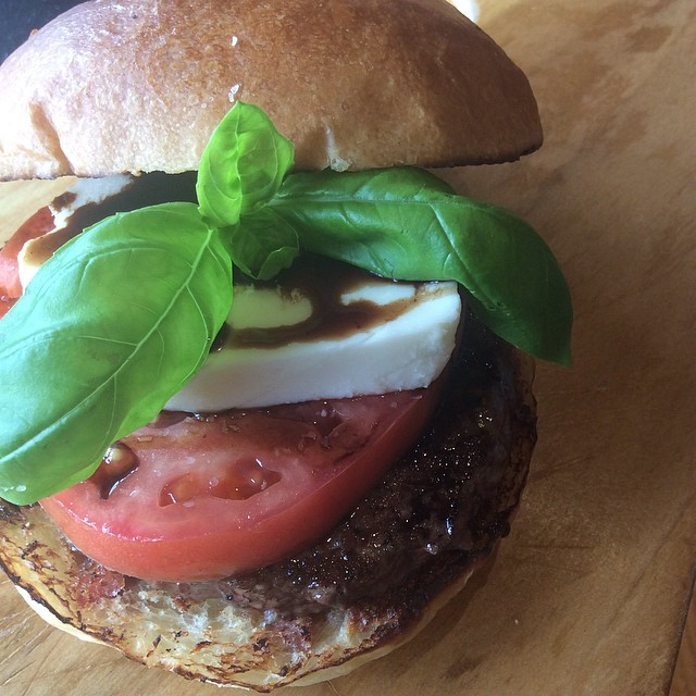 Want something light and interesting, come try our Caprese Burger! It has fresh mozzarella, tomato, fresh basil and balsamic reduction on top of our LaFrieda patty!