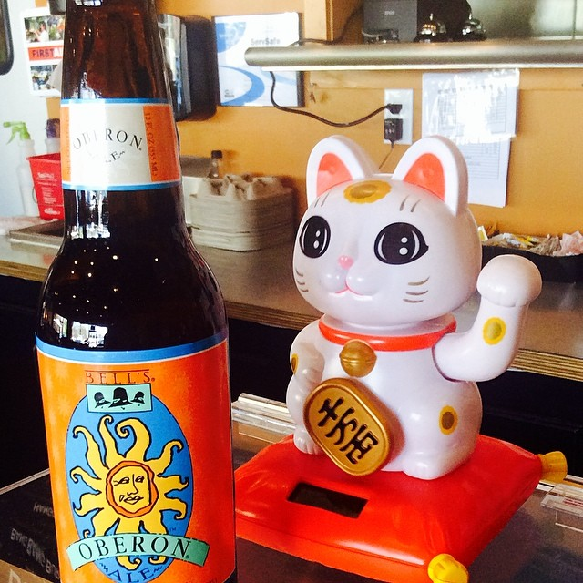 Bell's Oberon! Who wouldn't want a wheat beer for this sunny beautiful day!??? :)