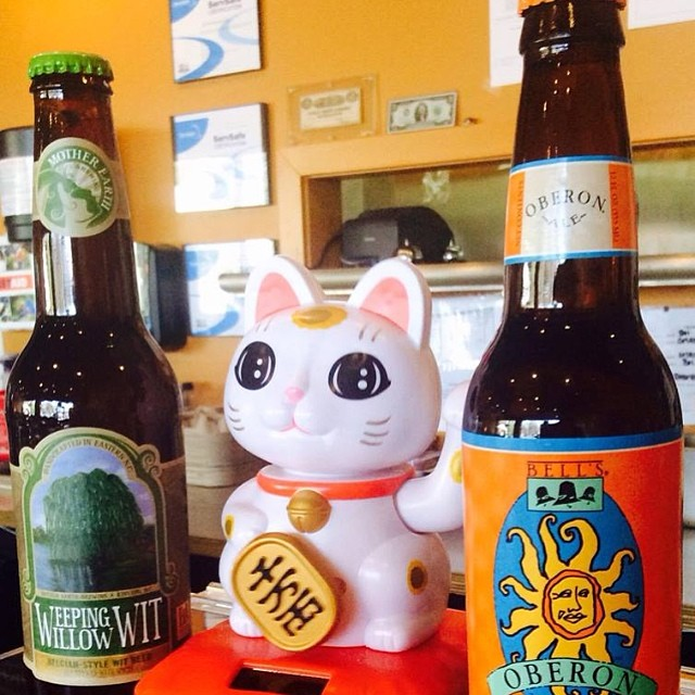 Wheat beers are here! We've got Bell's Oberon & Mother Earth's Weeping Willow Wit. On special for $3! Stop in on this beautiful day and give them a try!