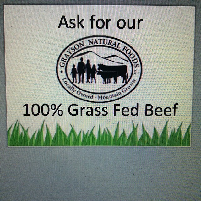 We have 100% grass fed beef available.  We are working with Grayson Farms in Virginia and I've met some of their friendly cows.  They're pretty awesome!  If you've never had Grass Fed beef, come try it at Bang Bang Burgers.