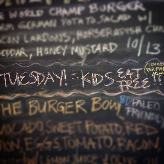 Don't forget KIDS EAT FREE tonight. Tuesdays are the perfect night to treat the family to a yummy Bang Bang Burger. As always it's a pleasure seeing you all in here!