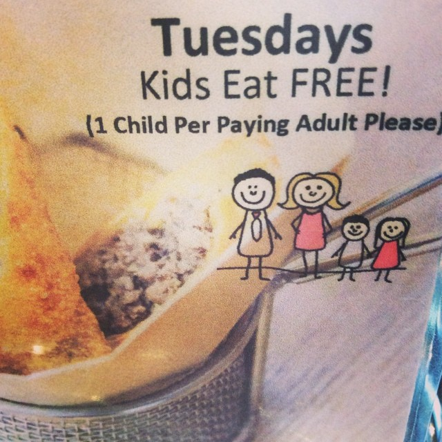 All Tuesdays Kids Eat Free..!! Here at #bangbangburgers (1per paying adult)