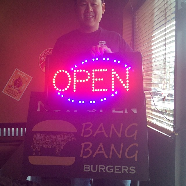 In case you were wondering if Bang Bang Burgers is open today...? The answer is YES!!! Come and get a burger.  #burgers #patlafrieda #plazamidwood #charlotte #charlotteburgers #dukesbread #local