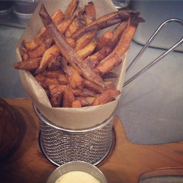 Yum! Sweet potato fries! Come on in and enjoy one of our delicious sides at no extra charge with our Monday special. #potato #bangbangburgers #fries #handcut #delicious #burgers  #sweetpotatofries #Monday #deals