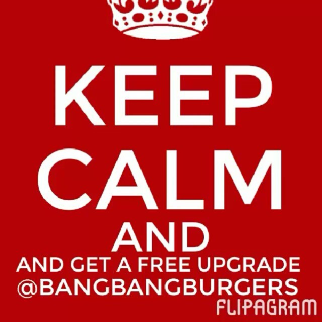Its Free Upgrade Monday at BangBangBurger...have an upgraded side on us with the purchase of your burger. Seeyou later! #bangbangburgers #upgrade #sweetpotatoefries #onionrings #arugalasalad