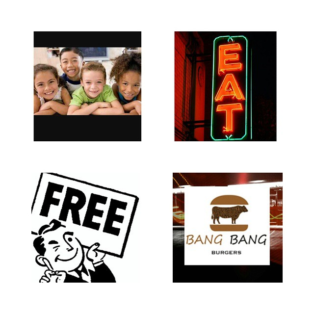 Its Tuesday at BangBangBurgers....Come and give your kids what they need.....A Good Ole BangBangBurger...Its *Free for them. We'll see you later. *1 child per Adult. #bangbangburgers #bangnation #kidseatfreetuesday #kids #charlotteresturant #clt #charlottefree