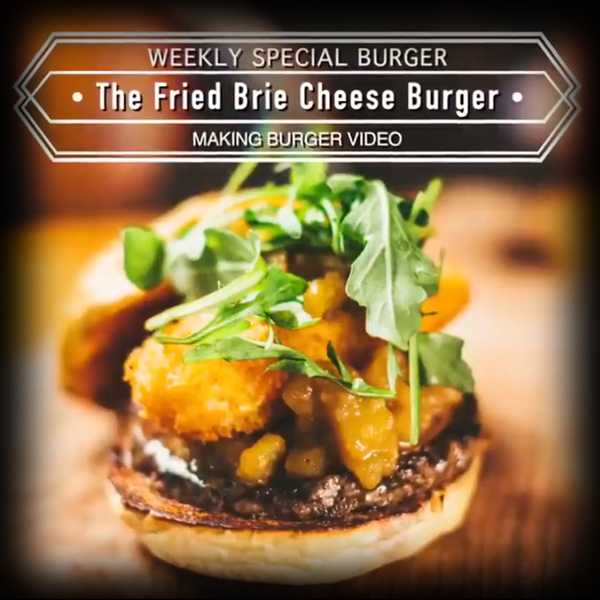 Burger Recipe:  Fried Brie Cheeseburger
