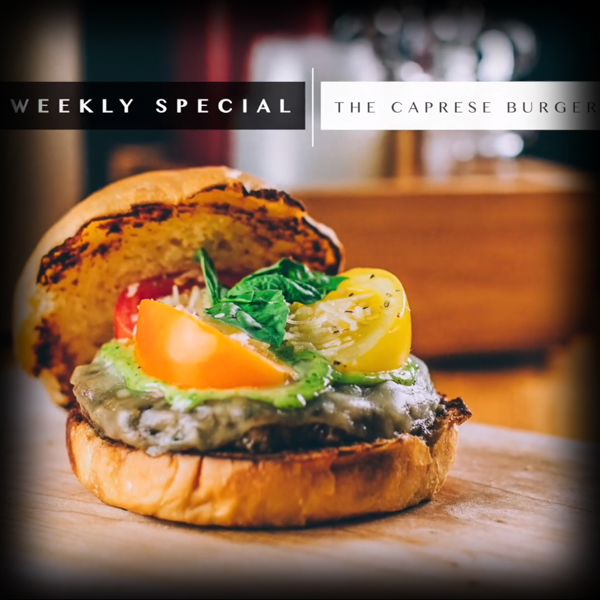 Burger Recipe:  The Caprese Burger