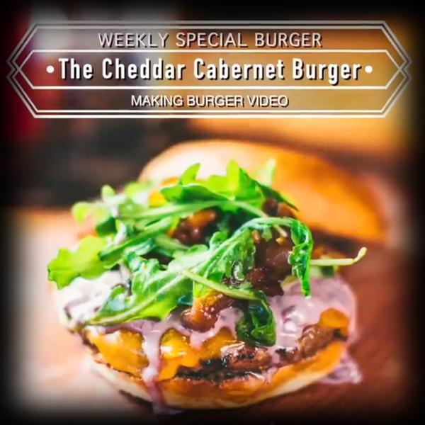 Burger Recipe:  Cheddar Cabernet Burger